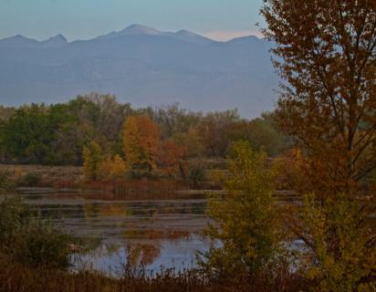 A Pond in Fall Below the Rockies (Canon 7D with 100-400mm lens at 100mm, f/16, 1/125, ISO 400, -0.5 ev)
