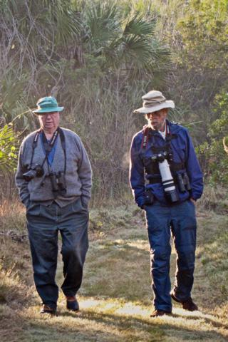 My Friend Bob (at left) and I Amble Along the Eagle Point Trail in the Alligator Creek Preserve