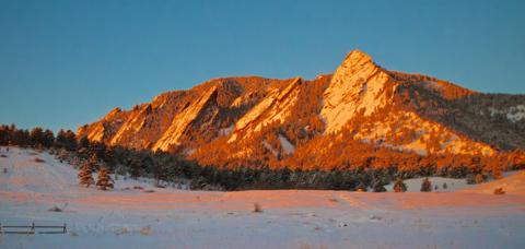 The Flatirons at a Winter Sunrise