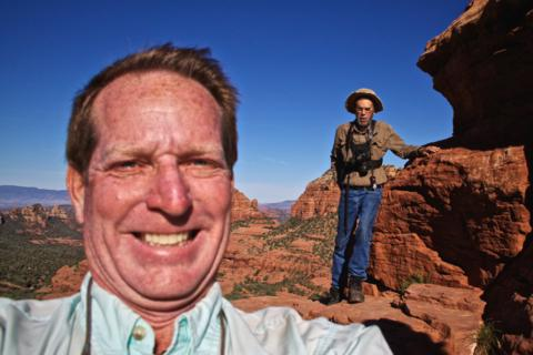 Big Mike Carey and Little David Mendosa in Red Rock Country (Photo by Mike Carey)