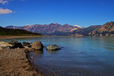 Kluane National Park and Preserve: The South End of the Lake and the Mountain Range