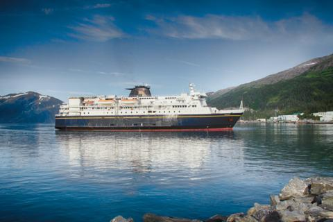 The M/V Kennicott Arrives in Whittier, Alaska