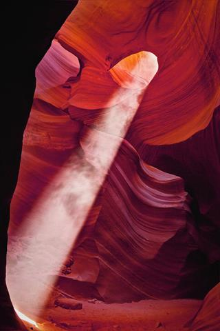 ​A Shaft of Light Falls on the Canyon Floor