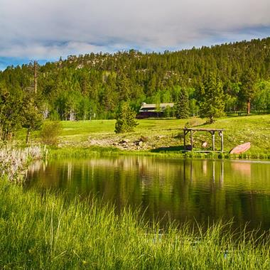 ​The View of the Lodge from Truchas Pond