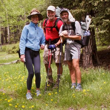 ​Ann from the Retreat Meets Two Through-Hikers​