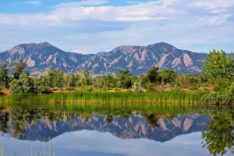 ​South Boulder Peak and Green Mountain from Sawhill Ponds