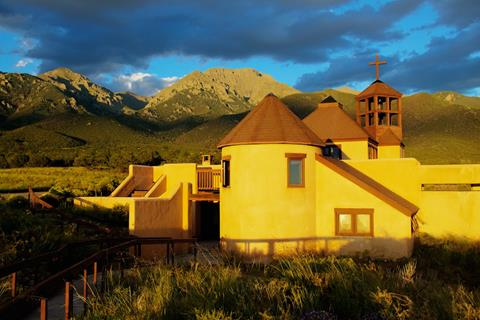 The Chapel of the Nada Hermitage in the Last Light of Day