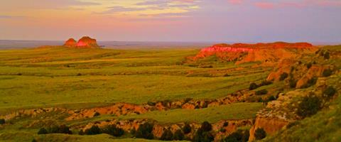 The Pawnee Buttes at Sunset