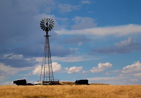 This Windpump at Pawnee Buttes Draws Water for Cattle