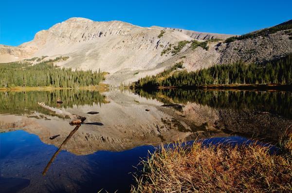 Mt. Audubon, 13,223 Feet, Towers Over Mitchell Lake, 10,735 Feet