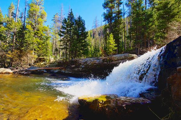 Copeland Falls on North St. Vrain Creek