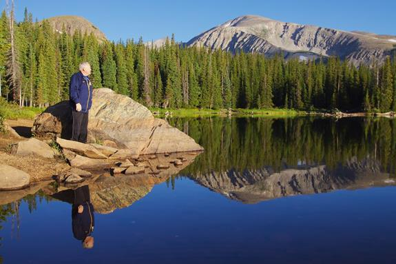 Brainard Lake Reflects John and Mount Audubon, Elevation 13,229 Feet