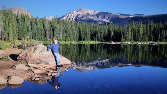 ​Later, Brainard Lake Reflected Me Too