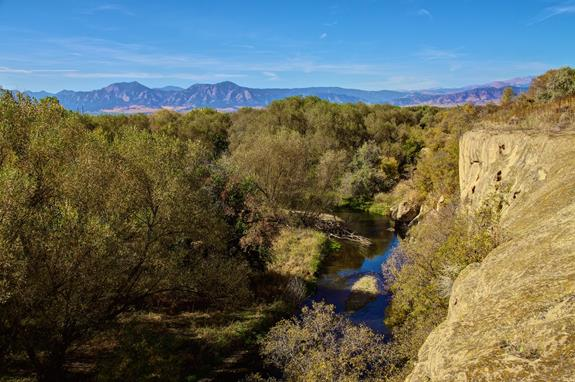 ​Boulder Creek and the Rockies from White Rocks